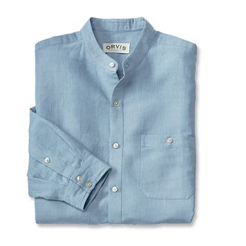 Just found this Linen Banded Collar Shirt - Cool Linen-Cotton Banded-Collar Shirt -- Orvis on Orvis.com!