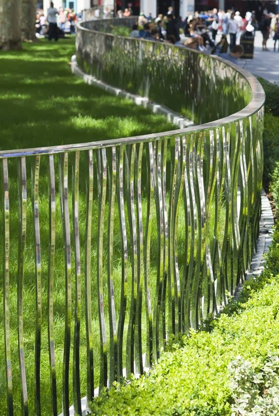 I write about the amazing mirror-like railings in Leicester Park, London in my blog, 'Serenity in the Garden'.