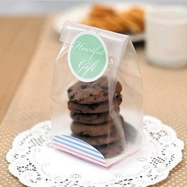10ps transparent Flat open top bag Cake&Cookie Wrappers-Cookies,Snacks,candy,Party, Favor, Gift, Wedding, Bread Handmade Package