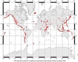 STUDENT ACTIVITY - World of quakes - In this activity, students take on the roles of seismologists and vulcanologists, using maps to look for patterns in the worldwide distribution of earthquakes and volcanoes.