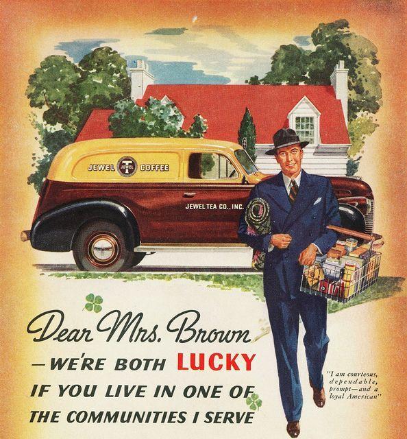 1940 Chevrolet Sedan Delivery Jewel Tea Company Jewel Tea