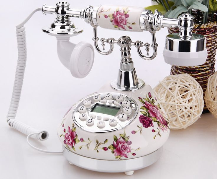 elegant vintage telephone | Fashion Elegant mechanical rustic vintage ceramic Retro home ...