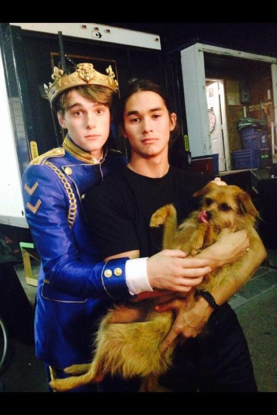 Mitchell, BooBoo and Paisley on set of Disney's Descendants