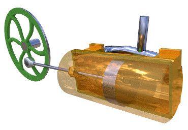 Image of 3D model 'Oscillating cylinder steam engine'