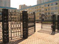 Литые ворота, литая калитка. Рисунок Орлеан