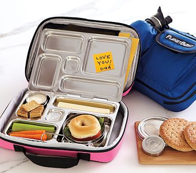 I have to re-pin this. For Back to School This is the BEST lunchbox.  $$ but worth it. My son eats everything I send b/c he can see it all layed out and ready to grab.  I love (really) love my planet box!