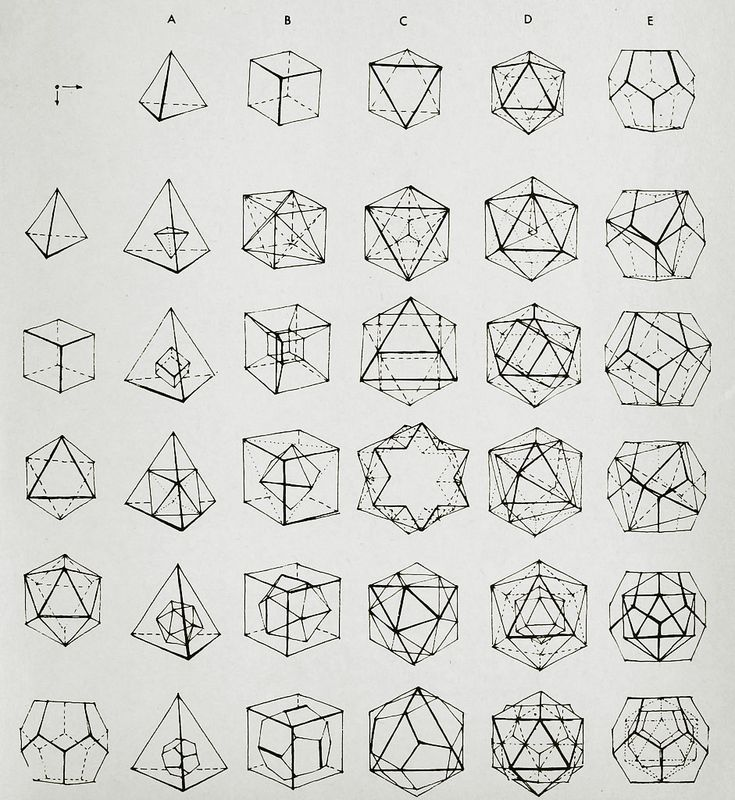 Holy Crap. These are crystal forms from Mineralogy... dodecahedrons, octohedrons, tetrahedrons... these are SO complicated!
