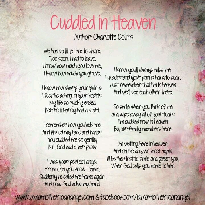 Losing A Unborn Baby Quotes: Cuddled In Heaven