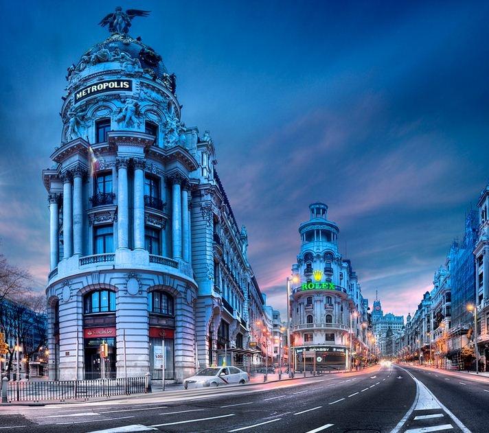 Gran Via in #Madrid, #Spain
