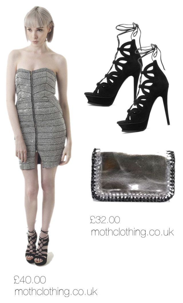 metallic going out dress by mothclothing on Polyvore featuring Yves Saint Laurent