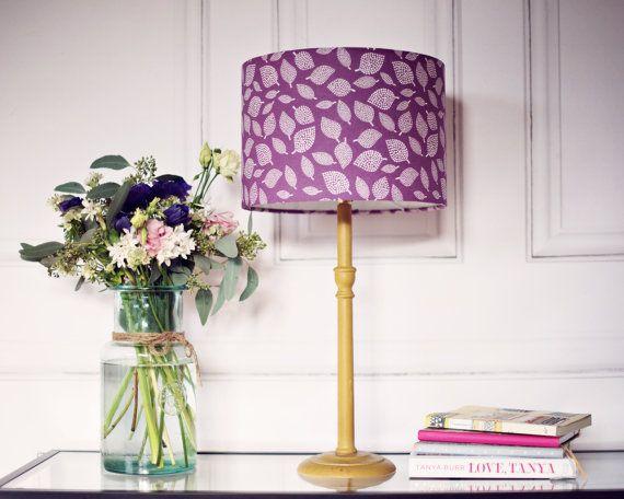 Purple Lamp Shade Purple Scandi Lampshade Purple Bedroom Purple Lamp Purple Lamp Shade Pink Lamp Shade