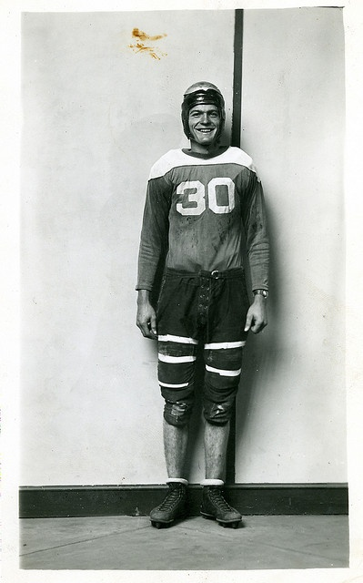 Football Player by Mike Disfarmer, Herbert Springs, AR: