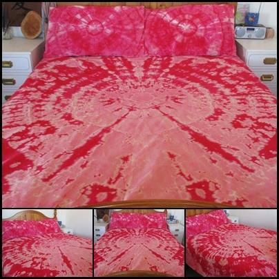 Tie dye King Doona Cover set Tie Dyed Duvet Set by EarthBoundTribe