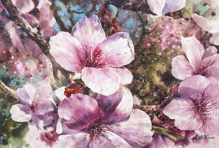 Watercolor painting by Chinese artist Ching-Che Lin