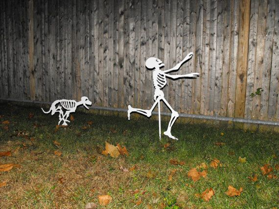halloween skeletons dog skeleton chasing person by metalarchitect 6500