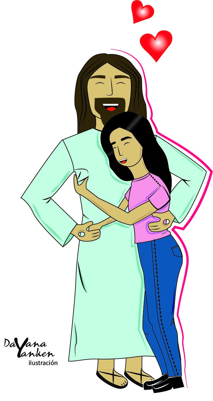 El Abrazo Soñado De Una Niña Enamorada Jesús Amor Dios Abrazo Ilustracion Digitalizado Dibujo Disney Characters Character Disney Princess