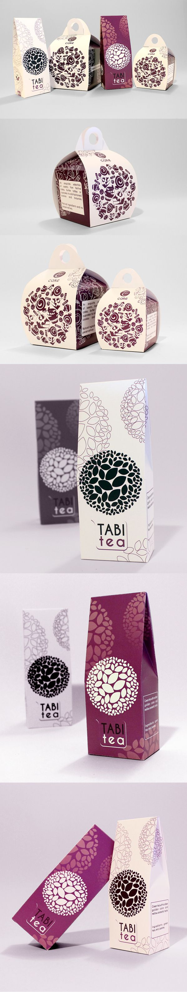 Tea and Cake Packaging for Tabi Cafe by CULT CAT , via Behance
