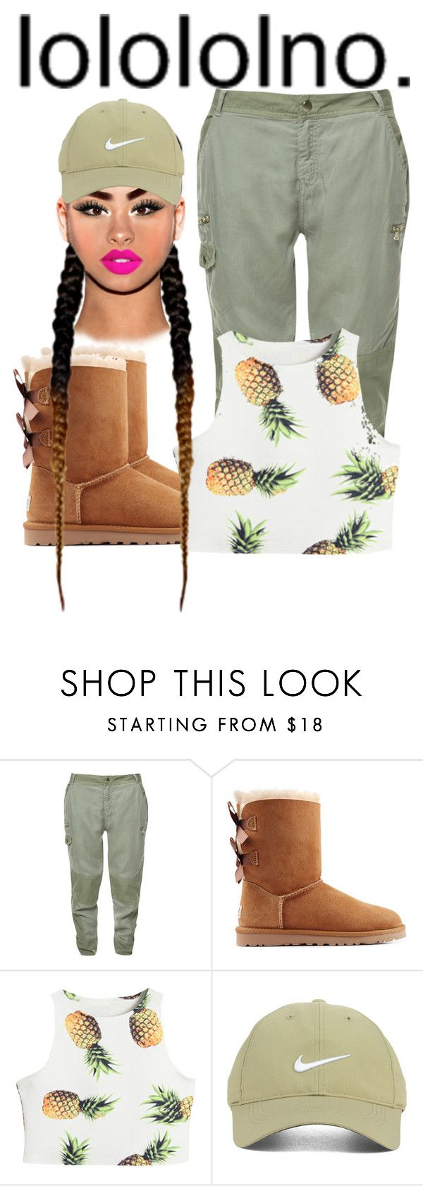 """"" by daddyteex3 ❤ liked on Polyvore featuring Zara, UGG Australia, Nike Golf, women's clothing, women's fashion, women, female, woman, misses and juniors"