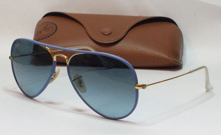Ray-Ban RB3025 #aviator FULL COLOR Men's sunglasses Italy Blue Lens with case visit our ebay store at  http://stores.ebay.com/esquirestore