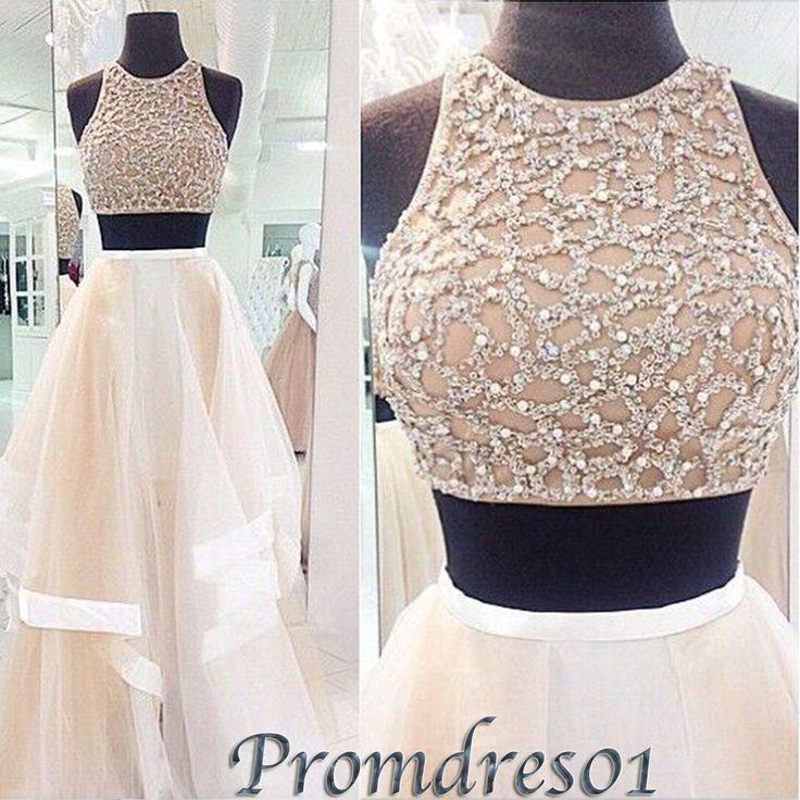 Senior prom dress with straps, modest side slit prom dress for teens, 2016 handmade white chiffon long party dress##http://gooddress.stanharvell.com