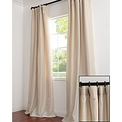 @Overstock - Defined by a unique sheen and fine weave, these exclusive faux silk taffeta curtains are gorgeous and timeless. They have a crisp smooth finish in brilliant, shimmering colors. http://www.overstock.com/Home-Garden/Solid-Faux-Silk-Taffeta-Antique-Beige-120-inch-Curtain-Panel/6495791/product.html?CID=214117 $75.99