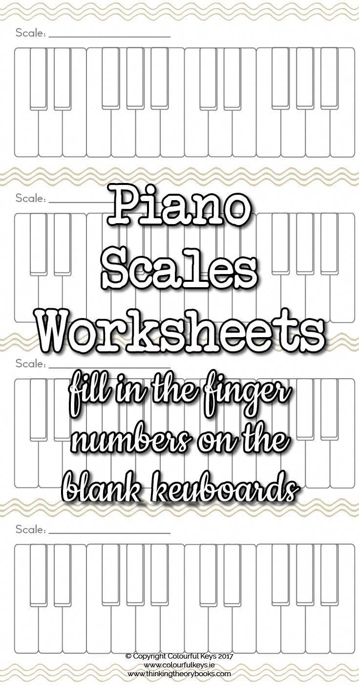 Blank Scale Keyboard Worksheets Keyboardlessons Keyboard Lessons Piano Scales Piano