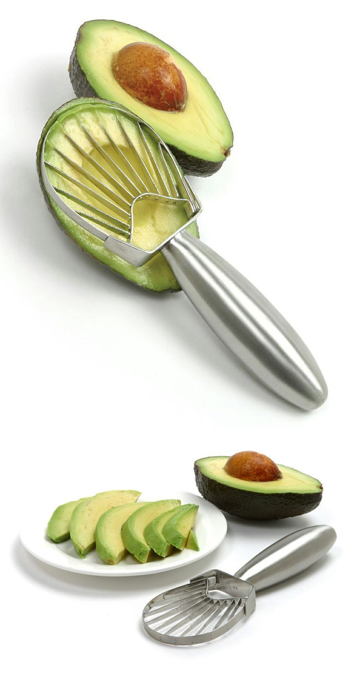 Stainless Steel Avocado Slicer // creates beautiful, perfect slices of avocado in one easy motion for sandwiches, salads  snacks.