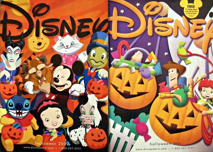 2 adorable disney halloween 2002 catalogs with mickey mouse monthly disney store - Halloween Catalogs