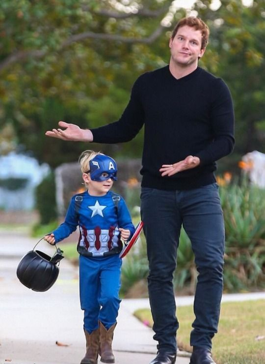 Chris Pratt - Oct. 2017 HA his son opted for Cap over Star Lord
