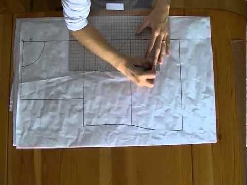 ▶ Tutorial: Come fare il cartamodello base del corpetto o body - YouTube