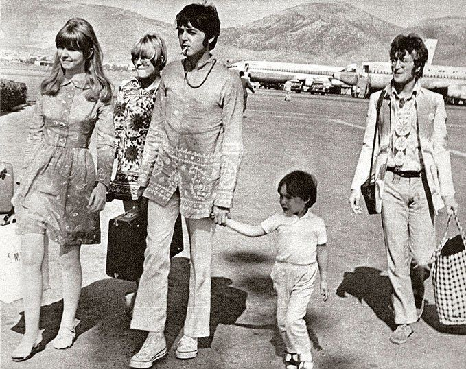 1967 ~ The Beatles arriving in Athens