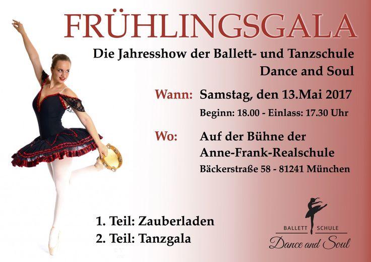 IT'S SHOWTIME - In wenigen Wochen heißt es Vorhang auf für unsere Frühlingsgala 💐 Am 13. Mai 2017 ist es endlich soweit 💖 Ihr seid alle herzlichst willkommen!! Bringt eure Freunde, Eltern, Kinder und Verwandte mit und genießt mit uns einen schönenabwechslungsreichenAbend. Tickets erhätlich unter: https://danceandsoul.de/gala   #Miniballett #Spitzentanz #Ballett #Modern #Tanzen #Hip Hop #Prince Damien #Jazz #Choreographie #Spitzenschuhe #Kinderballett #Ta