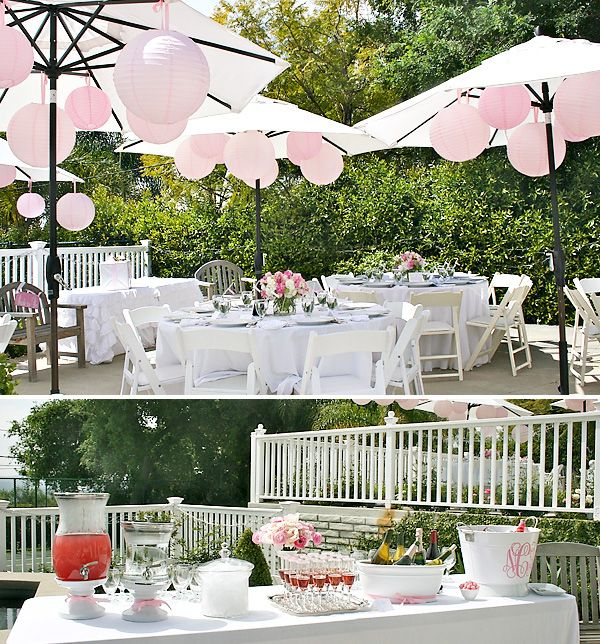 Eat, Pink and Be Married. A Pink inspired bridal shower by hostess with the mostess!