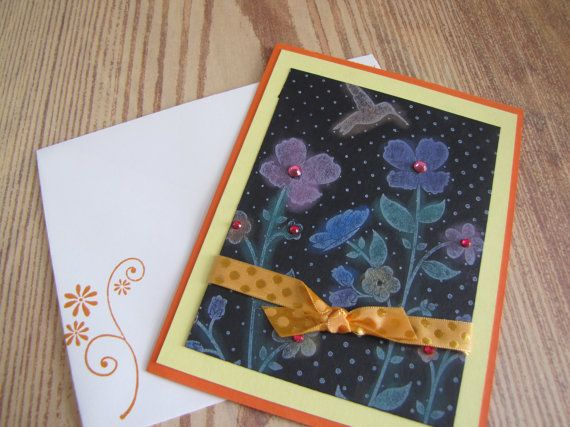 Springtime card handmade greeting cards on sale hummingbird card springtime card handmade greeting cards on sale hummingbird card m4hsunfo