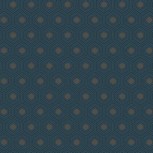 Honeycomb Wallpaper in Blue design by York Wallcoverings