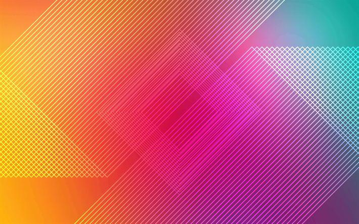Lataa kuva linjat, 4k, android, geometria, abstrakti materiaali, art