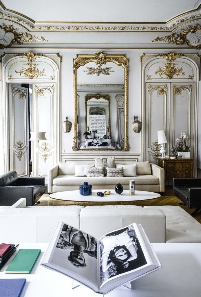 Beautiful Home Of Plume Voyage Magazine Editor Capucine Gougenheim Geagea.  The Haussmann Apartment In