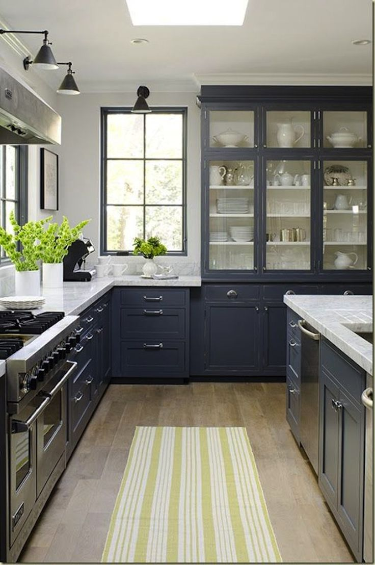 j'aime les lumières #kitchen, #kitchen-cabinets, #gray View entire slideshow: 15 Stunning Gray Kitchens on http://www.stylemepretty.com/collection/277/