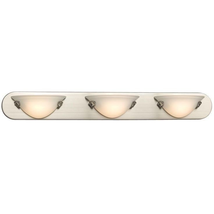 Filament Design Negron 3 Light Brushed Nickel Halogen Bath Vanity