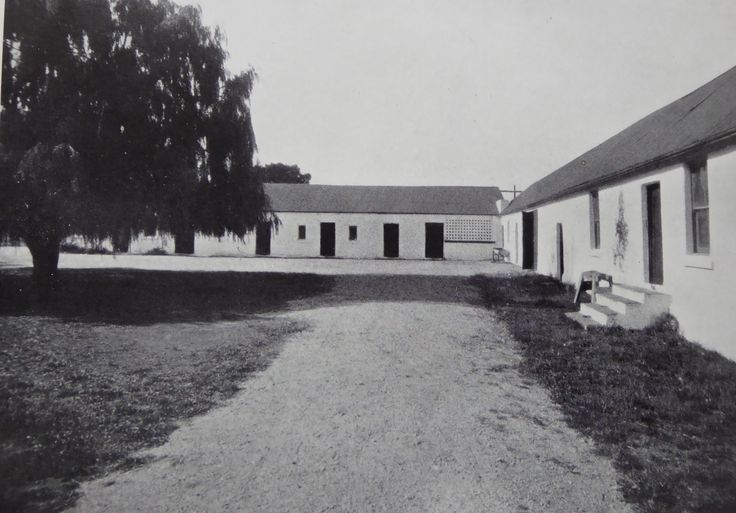 Foxlow, Bungendore, New South Wales. The Property of Franc B. S. Falkiner, Esq. Approximately 15,000 acres. Photo circa 1920. 'Stables and Coach house, Foxlow Homestead'. Uploaded courtesy of thecollectorsbag.com
