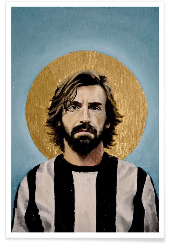 Football Icon - Pirlo 2014 als Premium Poster von David Diehl | JUNIQE