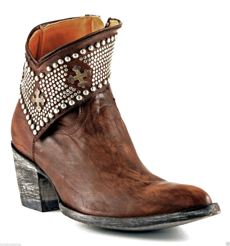 Old Gringo Clovis Brass Leather Ankle Boots (BL1446-4 ) beltsbootsbling.com  -. Old GringoLederstiefelettenCowgirl StiefelDamen BootsCowgirls