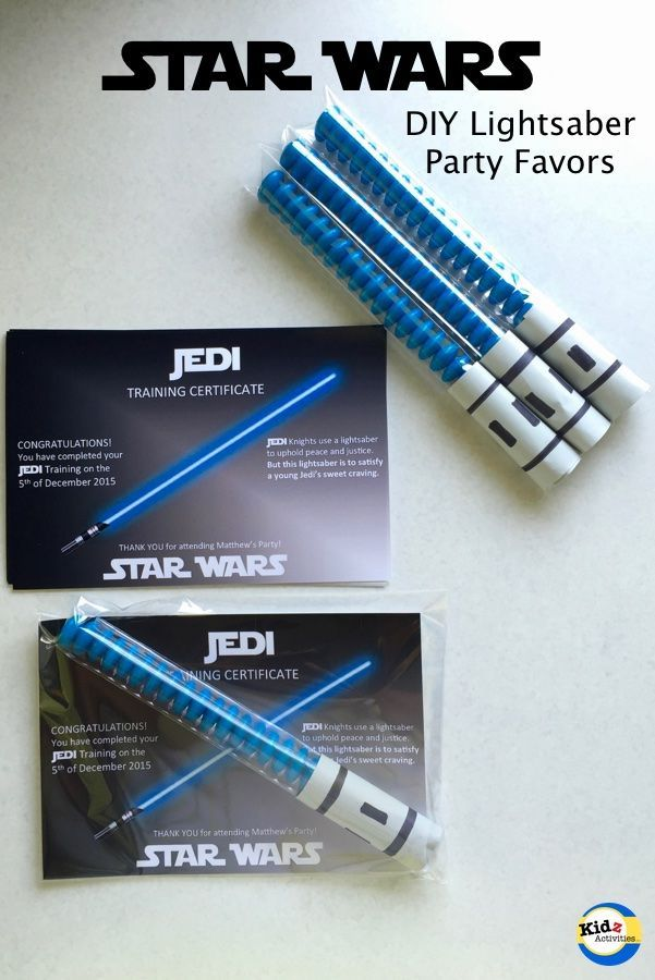 DIY Star Wars Party Favors with Jedi Training Certificate