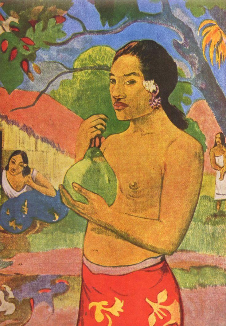 Paul Gauguin, woman holding a fruit, 1893  (detail)