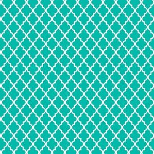 motif marocain turquoise