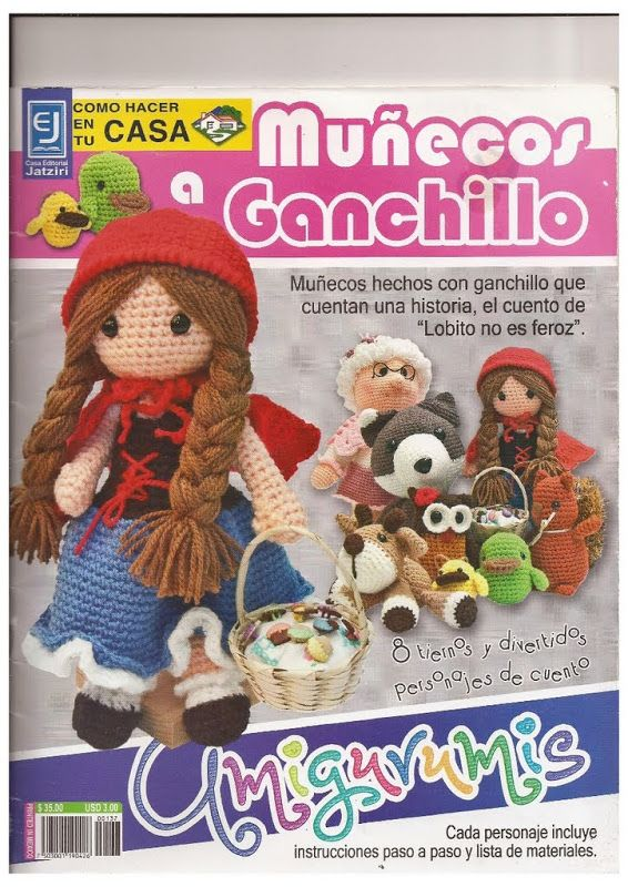 Amigurumis en español con instrucciones.http://knits4kids.com/collection-en/library/album-view/?aid=42714