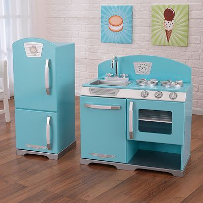 KidKraft Retro Kitchen & Refrigerator Play Set - this colour???