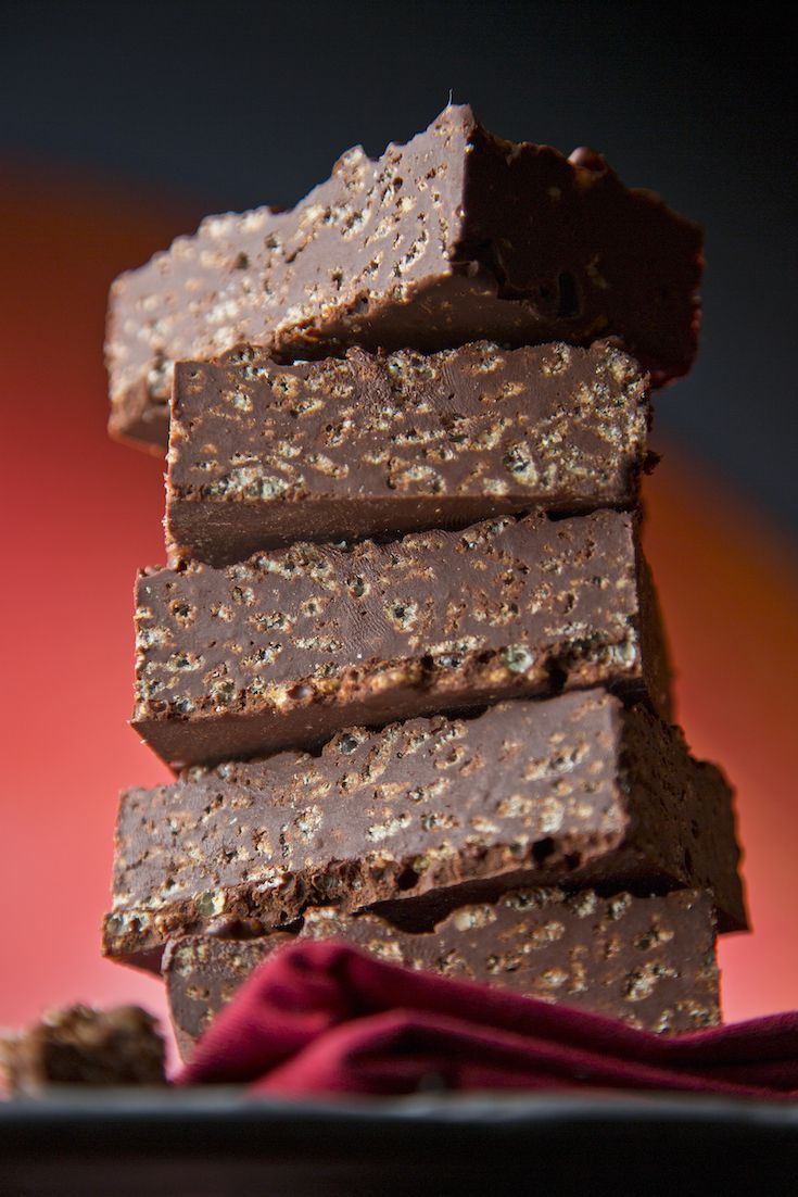 Brownies with crunchy, crispies in them? It's like a Crunch bar for grown ups!