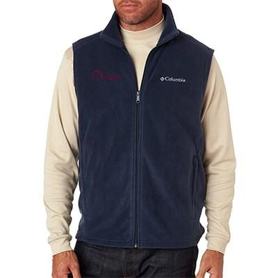 Custom Embroidered Fleece Vests for Men Personalized