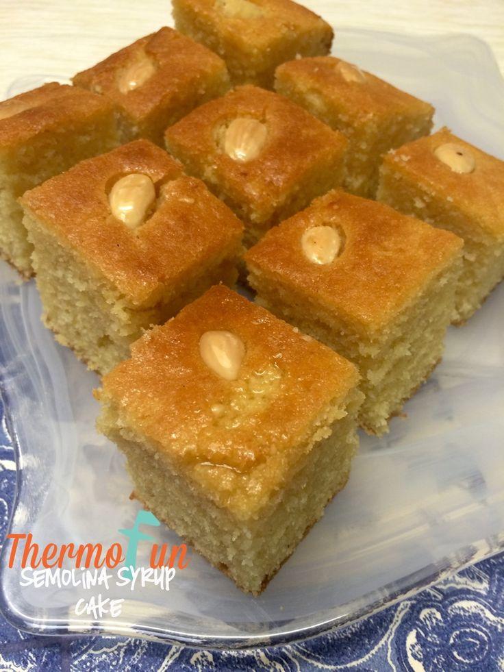 Thermomix Semolina Syrup Cake - Week 14 - ThermoFun | Thermomix R